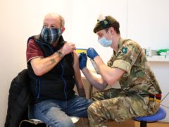 The Army is carrying out vaccinations at the Royal Highland Centre (Andrew Milligan/PA)