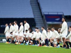 England players take a knee at Twickenham (David Davies/PA)