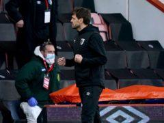 Bournemouth caretaker manager Jonathan Woodgate celebrates after beating Birmingham (John Walton/PA)