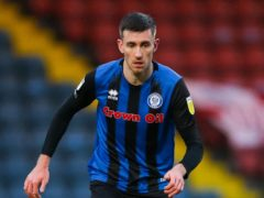 Rochdale's Matthew Lund is out of Saturday's League One clash with Burton with an ankle injury (Barrington Coombs/PA)