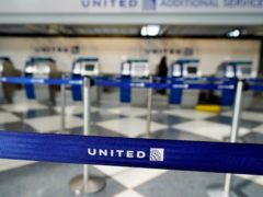 United Airlines counters in Terminal 1 at O'Hare International Airport in Chicago (Nam Y Huh/AP)