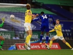 Leicester striker Kelechi Iheanacho scores the winner against Brighton (Mike Egerton/PA)