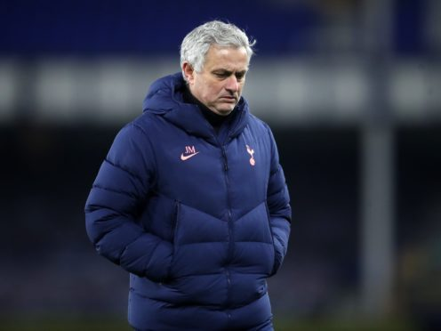 Tottenham manager Jose Mourinho insists he is happy with the character in his squad despite a fourth defeat in five matches (Martin Rickett/PA)