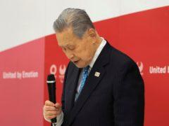 Yoshiro Mori has resigned as the president of the Tokyo 2020 organising committee (Yoshikazu Tsuno/AP)