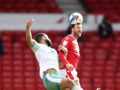 Glenn Murray, right, came close for Forest (Tim Goode/PA)