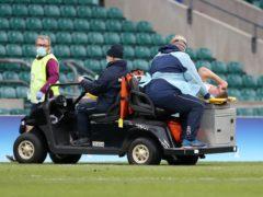 Jack Willis is taken from the field at Twickenham