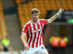 Nathan Collins was injured in Stoke's defeat at Norwich (Nigel French/PA)