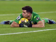Aston Villa goalkeeper Emiliano Martinez was in fine form at Brighton (Neil Hall/PA)
