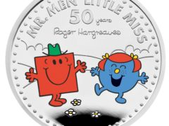 A new Little Miss Giggles with Mr Strong coin celebrating 50 years of the characters (Royal Mint/PA)