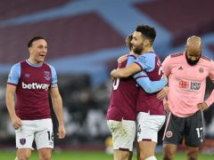 West Ham are in contention for a top six finish approaching the final three months of the Premier League season (Justin Setterfield/PA)
