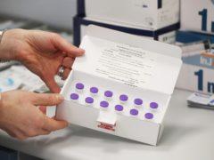 Vials of the BioNTech/Pfizer Covid-19 vaccine (Niall Carson/PA)