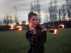 Fire performer Dawn Bryant (Jacob King/PA)