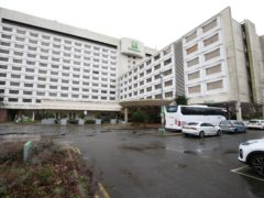 The Holiday Inn near Heathrow Airport, one of the Government-designated quarantine hotels for passengers returning to England from red list countries (PA)