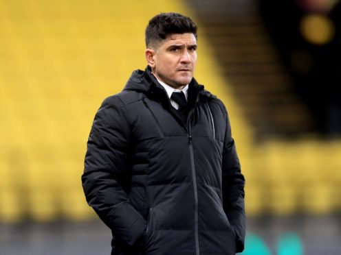 Watford manager Xisco Munoz during the Sky Bet Championship match at Vicarage Road, Watford. Picture date: Friday February 19, 2021.