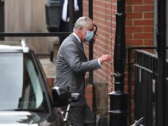 The Prince of Wales arrives at the King Edward VII Hospital in London (Dominic Lipinski/PA)