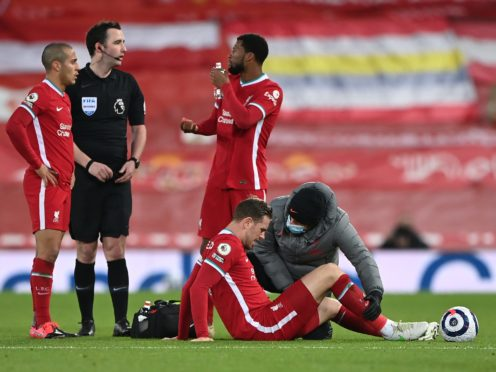 Liverpool captain Jordan Henderson has undergone an operation on a groin problem (Laurence Griffiths/PA)