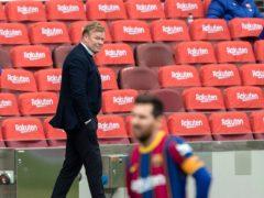 Barcelona boss Ronald Koeman was left frustrated as Cadiz snatched a late equaliser on Sunday (Joan Monfort/AP)