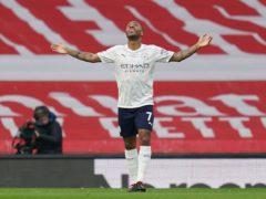 Raheem Sterling's header was enough for Manchester City to beat Arsenal. (John Walton/PA)