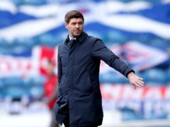 Rangers manager Steven Gerrard celebrates his 1,000th day in the job this week (Jane Barlow/PA)