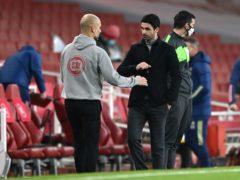 Pep Guardiola's City saw off Mikel Arteta's Arsenal (Shaun Botterill/PA)