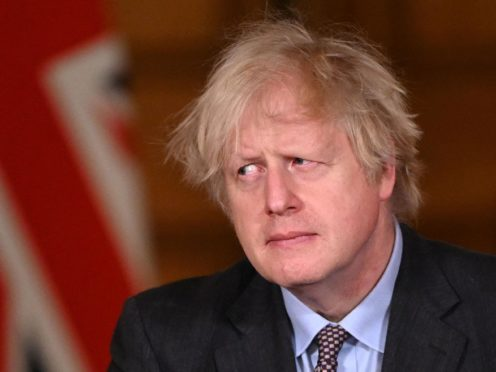 Prime Minister Boris Johnson during a media briefing (Leon Neal/PA)