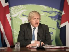 Boris Johnson chairs a virtual session of the UN Security Council on climate and security (Stefan Rousseau/PA)