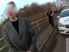 Handout still from police body worn video issued by Kent Police showing a photoshoot for social media which sparked an emergency police response (Kent Police/PA)