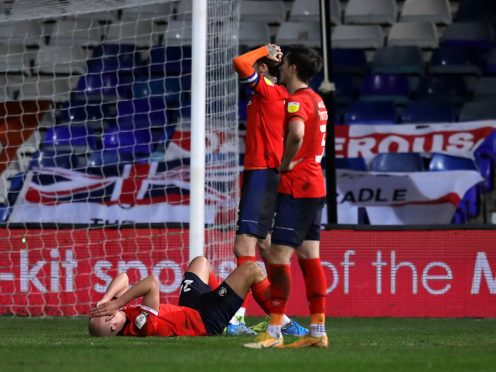 Luton suffered the agony of conceding a late equaliser against Millwall (Simon Marper/PA)