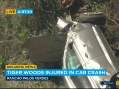 Tiger Woods's car after the crash (KABC-TV/AP)
