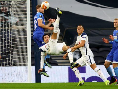 Dele Alli scored a stunning overhead kick (Julian Finney/AP)