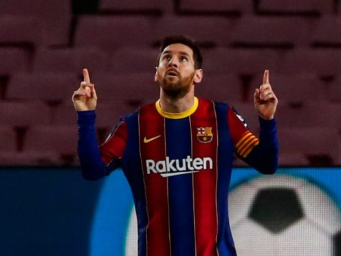 Messi moved to the top of the scoring charts (AP Photo/Joan Monfort)