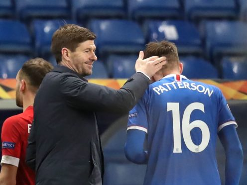 Steven Gerrard praised Nathan Patterson's display (Andrew Milligan/PA)
