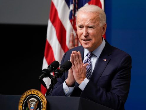 President Joe Biden speaks during an event to commemorate the 50 millionth Covid-19 shot (Evan Vucci/AP)