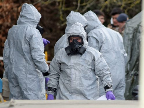 Investigators at the South Western Ambulance Service station in Harnham, near Salisbury, as police and members of the armed forces probed the nerve agent attack on Russian double agent Sergei Skripal and his daughter Yulia who were found critically ill due to exposure to the nerve agent Novichok (Andrew Matthews/PA)