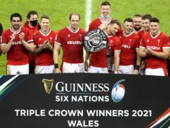Wales celebrate winning the Triple Crown, David Davies/PA