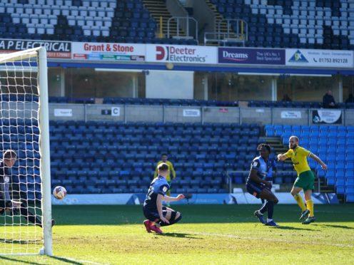 Teemu Pukki scores Norwich's opener (John Walton/PA)
