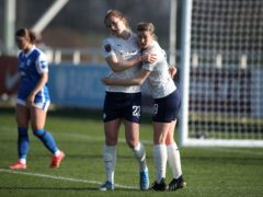 Sam Mewis, left, scored twice against Birmingham (Nick Potts/PA)