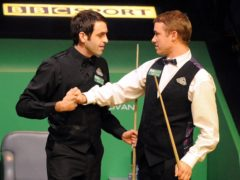 "Ronnie O'Sullivan (left) has described Stephen Hendry as the ""Tiger Woods of snooker"" (Anna Gowthorpe/PA)"