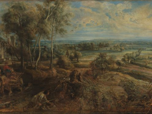 Rubens' An Autumn Landscape with a View of Het Steen in the Early Morning (The National Gallery, London)