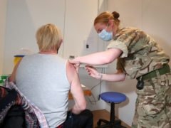 More than three quarters of a million Scots have now had their first dose of coronavirus vaccine (Andrew Milligan/PA)