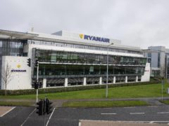 The Ryanair headquarters at Airside Business Park in Swords, Dublin (Brian Lawless/PA)