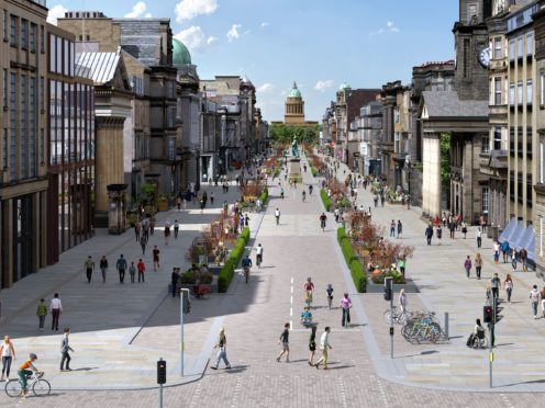 George Street in Edinburgh would be transformed through the plans (City of Edinburgh Council/PA)
