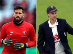 Alisson Becker and Joe Root (PA)