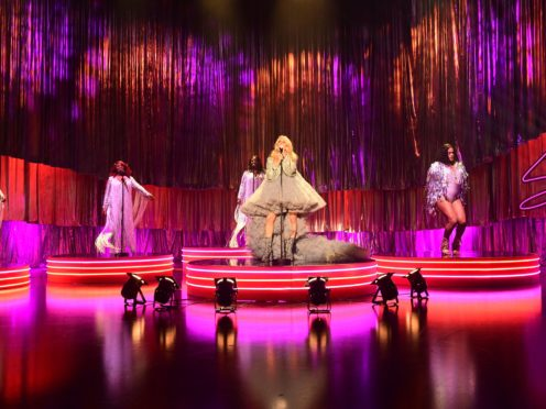 Ellie Goulding performing during filming for the Graham Norton Show (So TV/PA)
