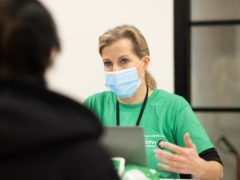 The Countess of Wessex volunteering at a vaccination centre in south-west London (Daniel Lewis/ St John Ambulance)