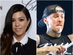 Kourtney Kardashian has made her relationship with Blink-182 drummer Travis Barker Instagram official (PA)