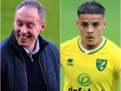 Swansea manager Steve Cooper and Norwich star Max Aarons feature in today's transfer gossip (Simon Galloway/Nigel French/PA)