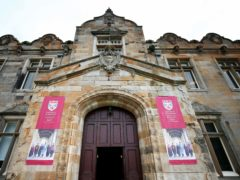 A male student has been charged over the incident at St Andrews University (Jane Barlow/PA)