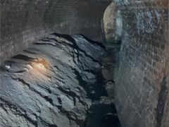 The foul-smelling fatberg could have caused sewer to leak into homes if it had continued to grow (Thames Water)