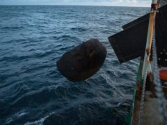Greenpeace dropped boulders into the Dogger Bank reserve to stop damaging fishing last year (Suzanne Plunkett/Greenpeace/PA)